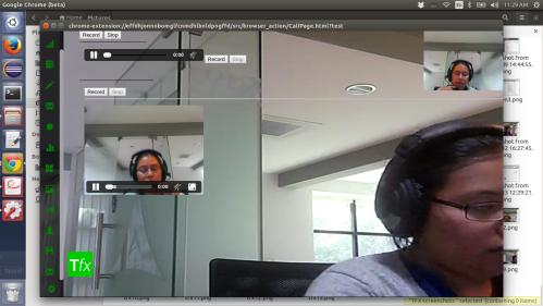 TFX recording widget