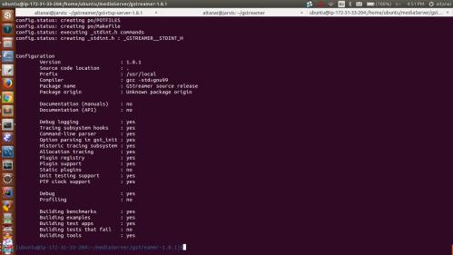 GStreamer-1 8 1 rtsp server and client on ubuntu | Telecom R & D
